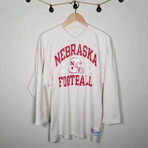 Vintage 80's Champion Nebraska Football Jersey XL